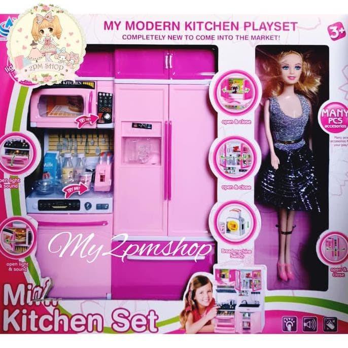 Jual Hot Sale Mini Kitchen Set Barbie Mainan Anak Perempuan Kado Jakarta Utara Mugijantosugijono Tokopedia