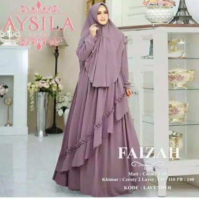 Foto Produk faizah syari baju gamis fashion muslim dress dari zam collection