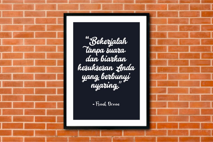 Jual Hiasan Dinding Rumah Minimalis Quote Frank Ocean - Kota Kediri -  Rizquna One Shop | Tokopedia