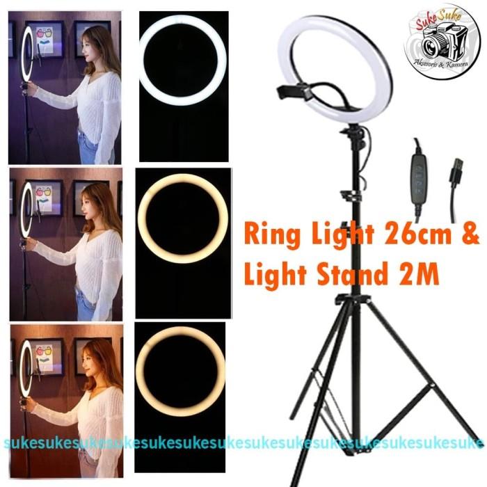 Foto Produk Ring Light 26cm + Light Stand 2M dari SukeSuke90
