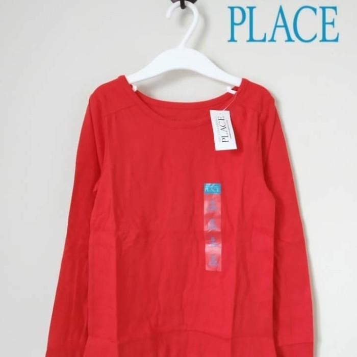 Foto Produk Baju anak lengan panjang branded The Children's Place merah 5-8 T - 5-6 tahun dari Galeri Ona