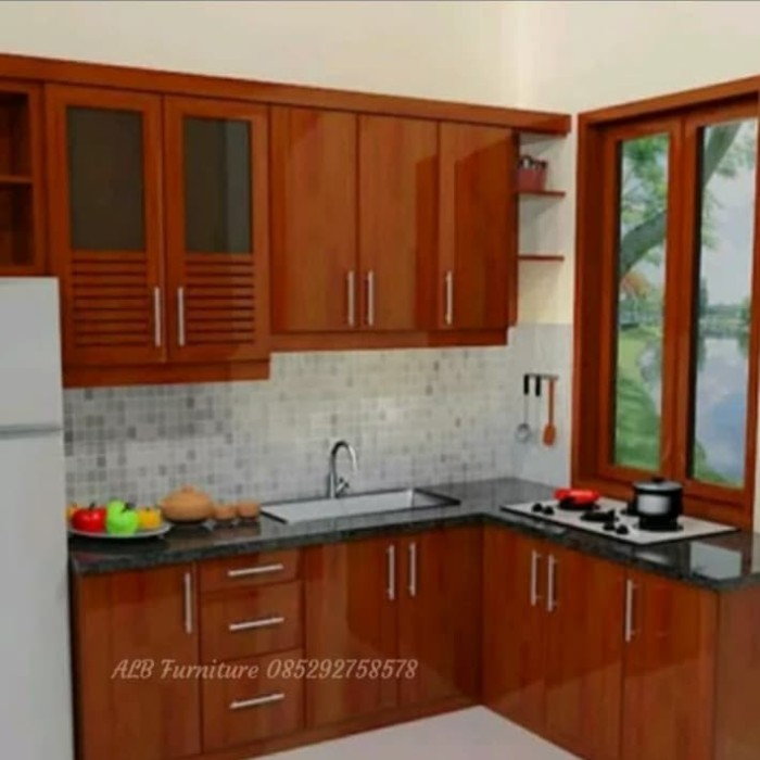 Jual Kitchen Set Murah Rak Dapur Minimalis Lemari Dapur Kab Jepara Alb Furniture Centre Tokopedia