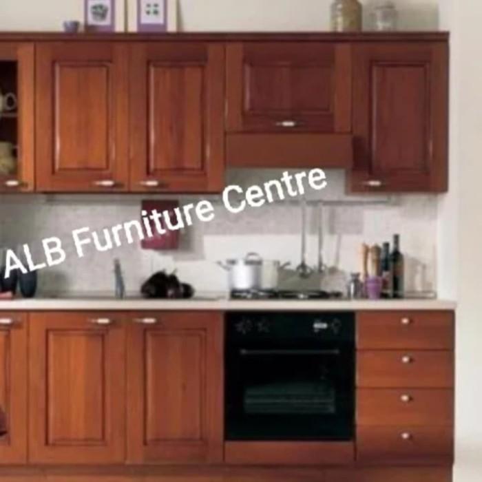 Jual Kitchen Set Lemari Dapur Minimalis Kayu Jati Finishing Jepara Kab Jepara Alb Furniture Centre Tokopedia
