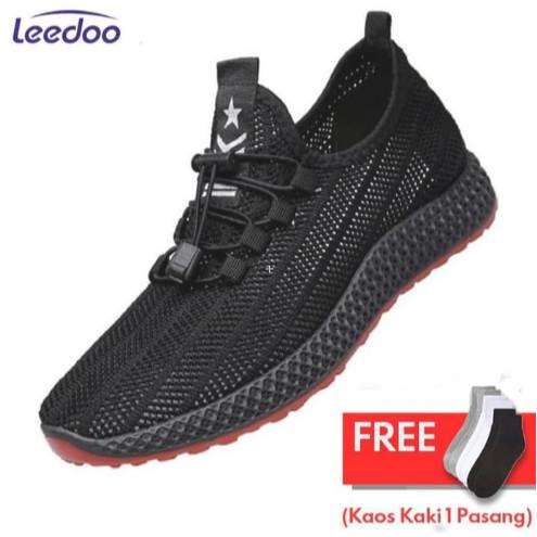 Leedoo Sepatu Sneakers Sepatu Sneakers Pria Sepatu Tali Sepatu MR210