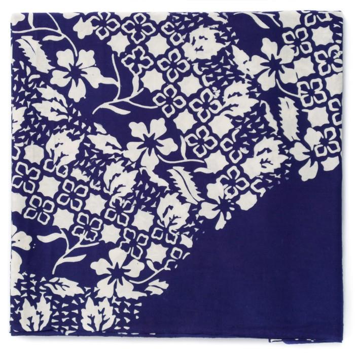 Foto Produk Kain Batik Cap Trusmi Motif Sinaran 3 - Biru dari Kainusa