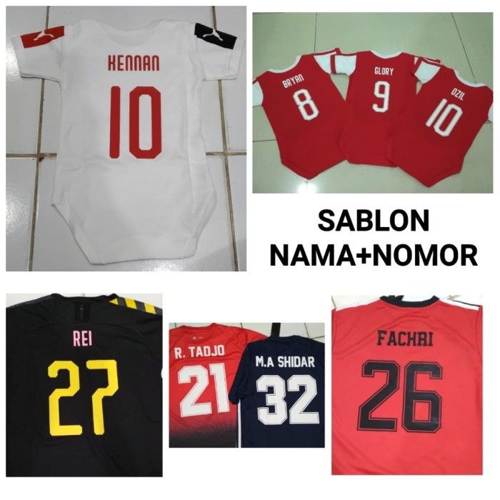 Foto Produk Custom Name / Sablon Press Nama + Nomor Setelan Baju Anak dari SPORT COLLECTION JAKARTA