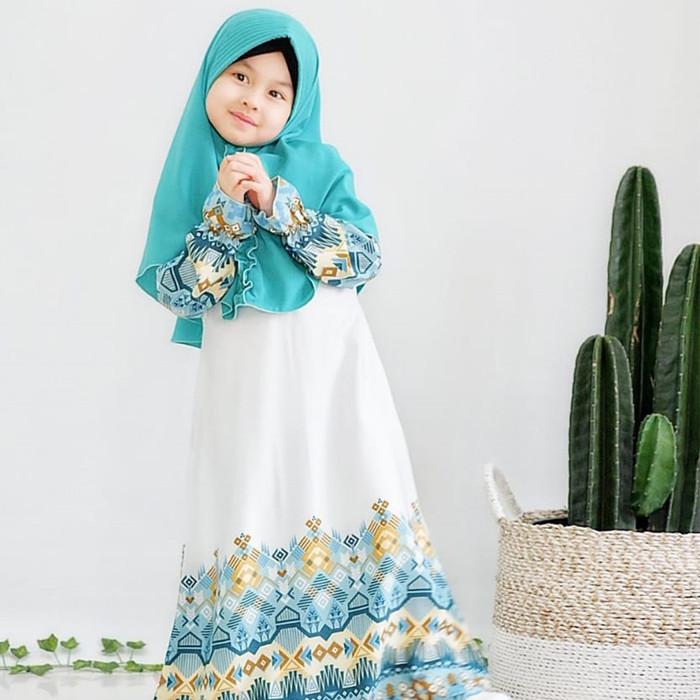 Foto Produk Gamis Anak Set Daily Balotely Motif Cantik Usia 1- 9th 5 pilihan warna - TOSCA, XS dari Salim anak muslim