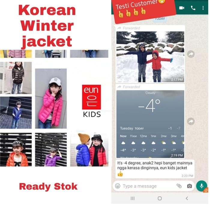 Foto Produk Jaket winter untuk anak 2 - 12 tahun ready dari eun kids