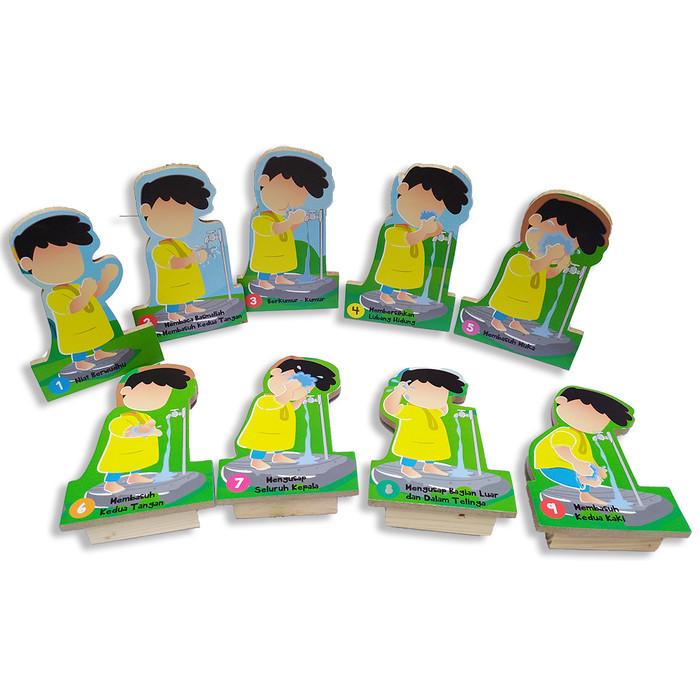 Foto Produk Maket 2D wudhu laki laki alat peraga edukasi mainan edukatif kayu SNI dari Edukasi Toys