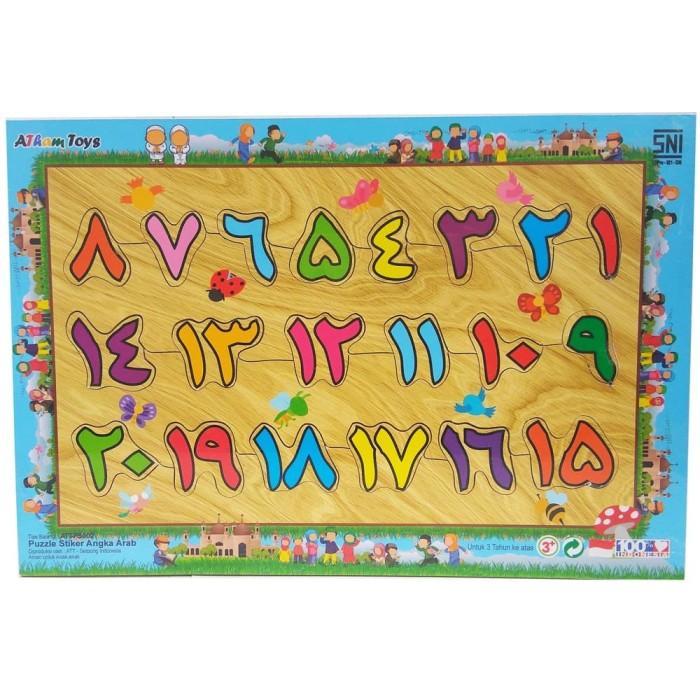 Foto Produk Puzzle angka arab mainan edukasi edukatif montessori balok kayu SNI TK dari Edukasi Toys
