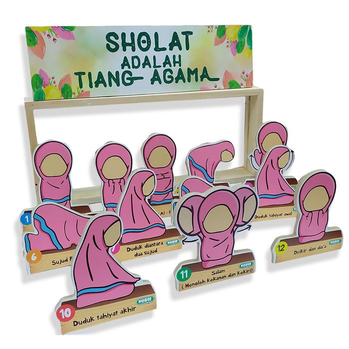 Foto Produk Maket 2D sholat perempuan alat peraga edukasi TK Paud balok kayu anak dari Edukasi Toys