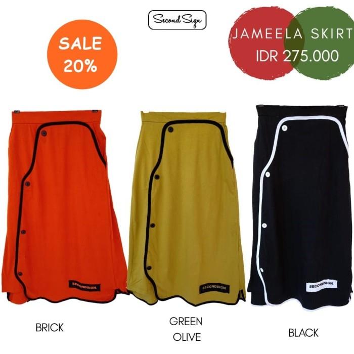 Foto Produk Bawahan Rok Wanita Casual Second Sign Jameela Skirt - Olive dari Butik Sasmaya