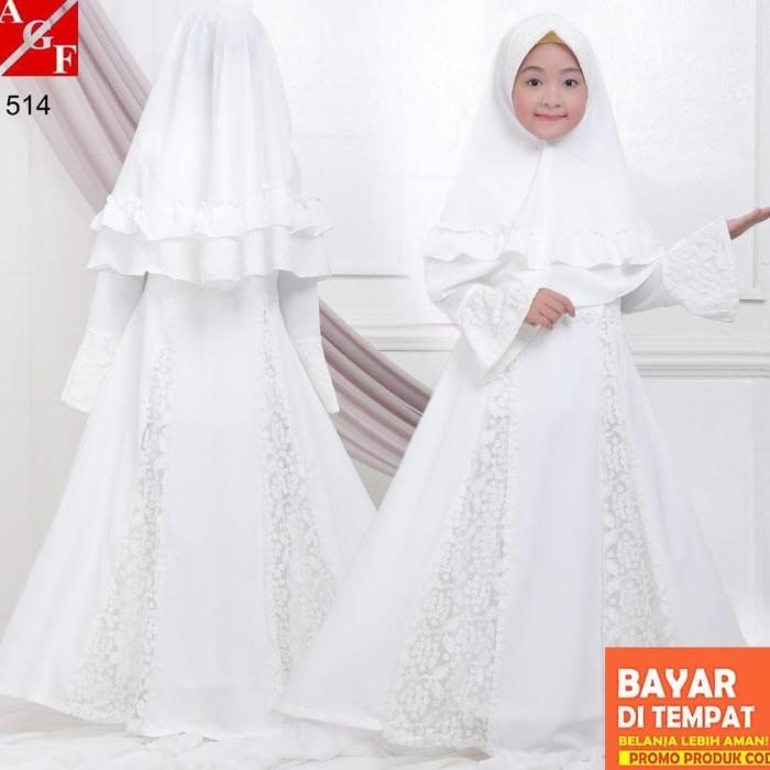 Jual Agnes Baju Muslim Anak Gamis Putih Anak Baju Syari Putih Gamis Umroh Jakarta Timur Nayhijab Shop Tokopedia