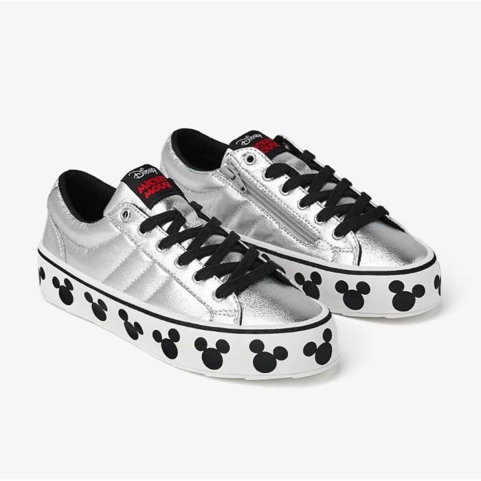 Jual Terlaris Zara Kids Mickey Mouse Shoes Silver Sepatu Sneaker