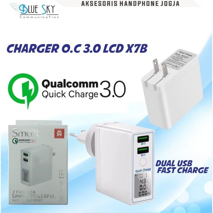 Foto Produk CHARGER 2USB X7B 2USB FAST CHARGING QUALCOMM 3.0 dari Blue Sky Communication
