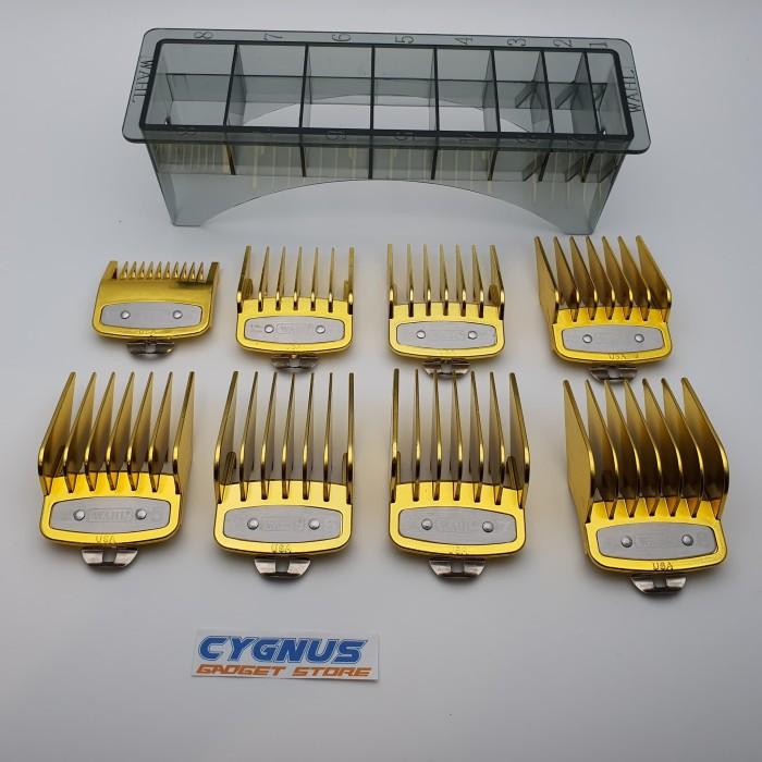 Foto Produk Sepatu clipper WAHL / Attachment Comb WAHL Metal Clip isi 8 pcs GOLD dari Cygnus Gadget Store
