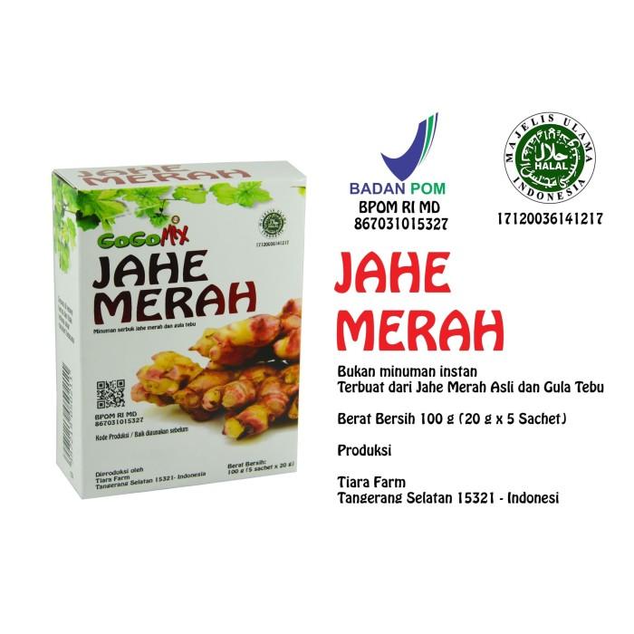Foto Produk Jahe Merah 5 sachet x 20 g (Tiara Farm - GOGOMIX) dari Tiara Farm