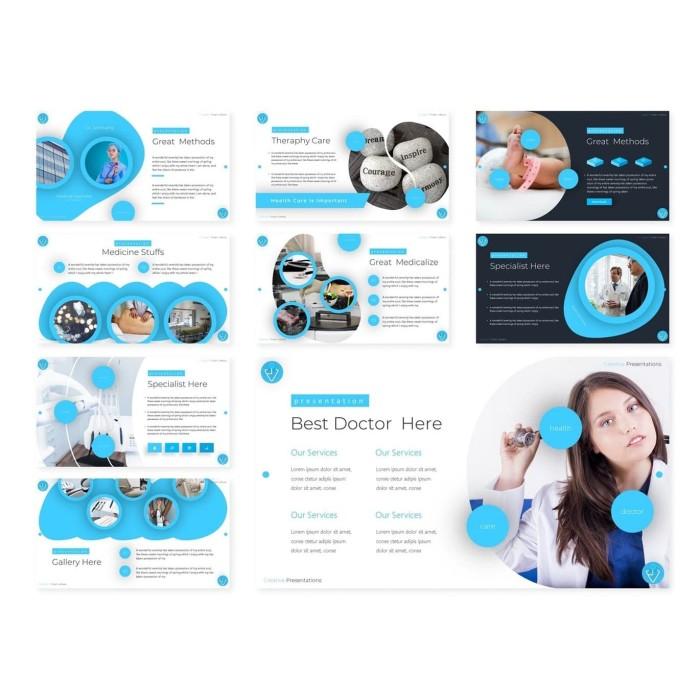 Jual Download Template Powerpoint Kesehatan Medical Medis 150 Slide Jakarta Pusat Agen Produk Digital Tokopedia