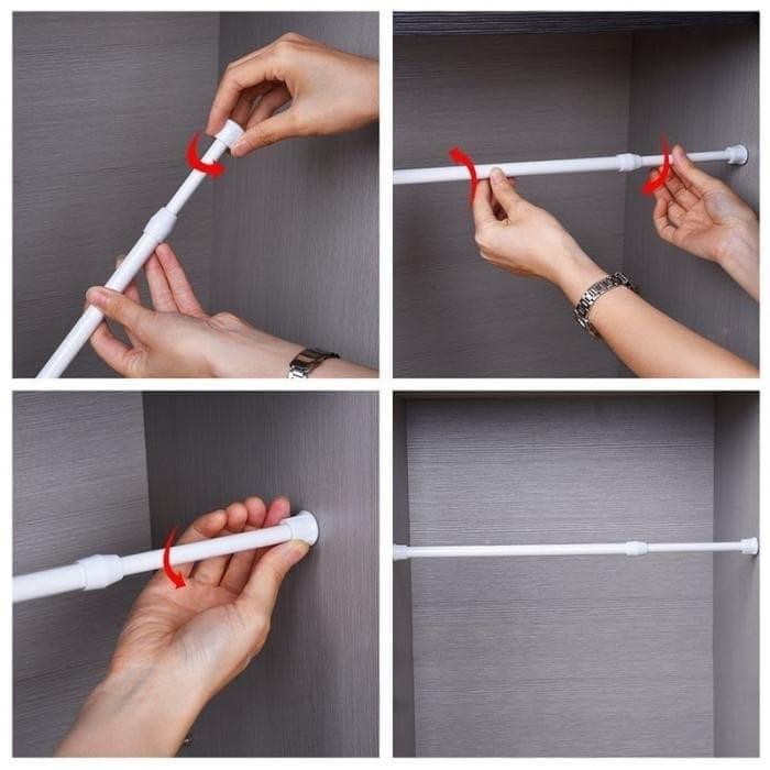 Foto Produk Pipa Ajaib Gorden Kolong Dapur/ Tirai Flexible/ Tongkat Gorden Tirai dari Junior Bertsury