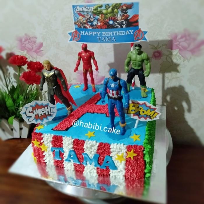 Jual Kue Ultah Avengers Avengers Birthday Cake Kue Anak Laki Laki Kota Tangerang Selatan Baju Alya Shop Tokopedia