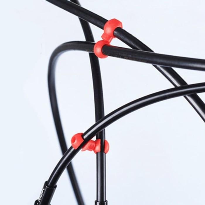 Foto Produk 1Pcs Klip Penjepit Kabel Sepeda Bentuk S - Hitam dari Sunny Go Adventure