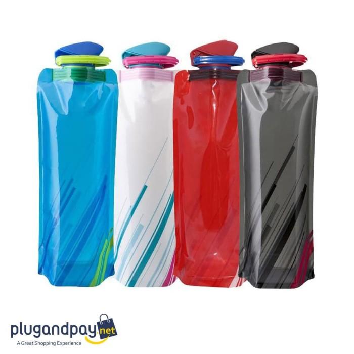 Foto Produk Botol Minum Lipat 700ml Foldable Water Bag Bottle - plugandpay dari plugandpay