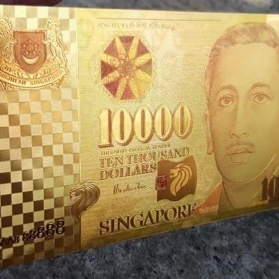 Jual Uang Goldfoil Banknote 10 000 Dolar Singapura 100000 Dolar Singapore Kab Banyumas Galeri Uang Kuno Dot Com Tokopedia