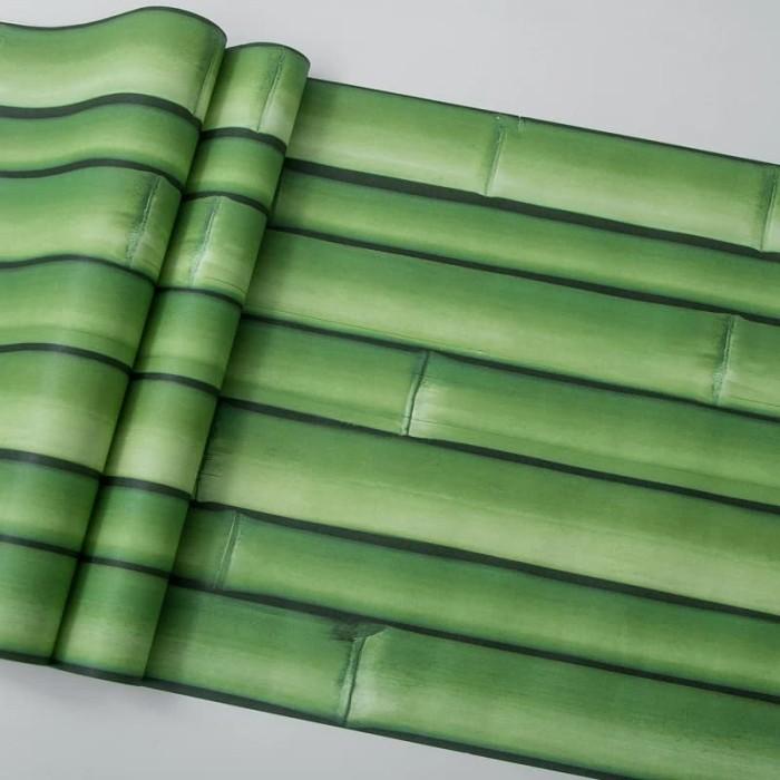Foto Produk wallpaper bambu 45 cm x 10 mtr    Wallpaper dinding dari dedengkot wallpaper