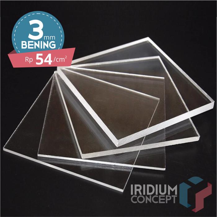 Foto Produk Akrilik/Acrylic Lembar/Sheet bening 3mm/3 mm Kecil Custom dari Iridium Shop