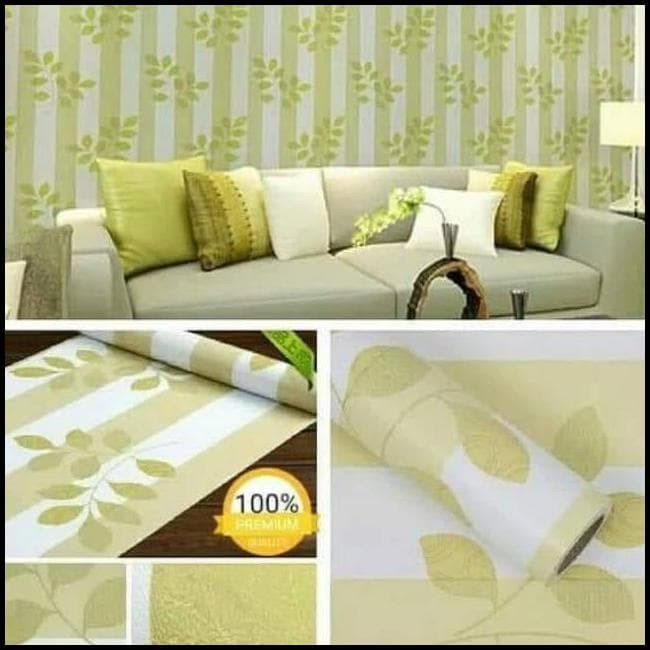 Jual Wallpaper Dinding Hijau Daun Salur Walpaper Stiker Daun Salur Hijau Jakarta Timur Pipit Amalia Tokopedia