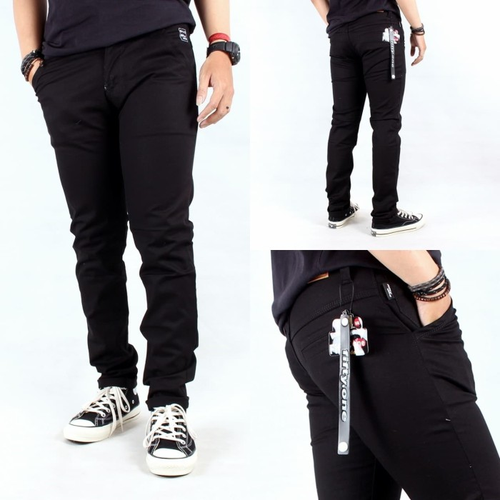 Foto Produk celana chino pria / celana cino panjang fifty-one premium 27 / 34 - Hitam dari playjeans