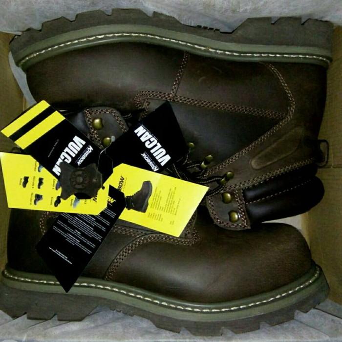 Jual Sepatu Safety Krisbow Vulcan Original Size 44 Cokelat 44