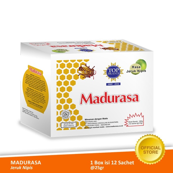 Foto Produk Madurasa Jeruk Nipis Sachet 12x25 gr - Box dari Air Mancur Official Shop