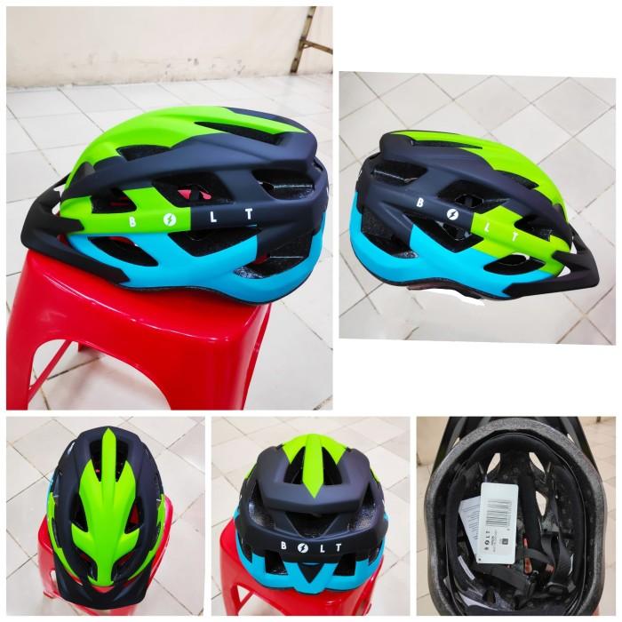 Jual Helm sepeda polygon bolt biru Jakarta Pusat AXEL
