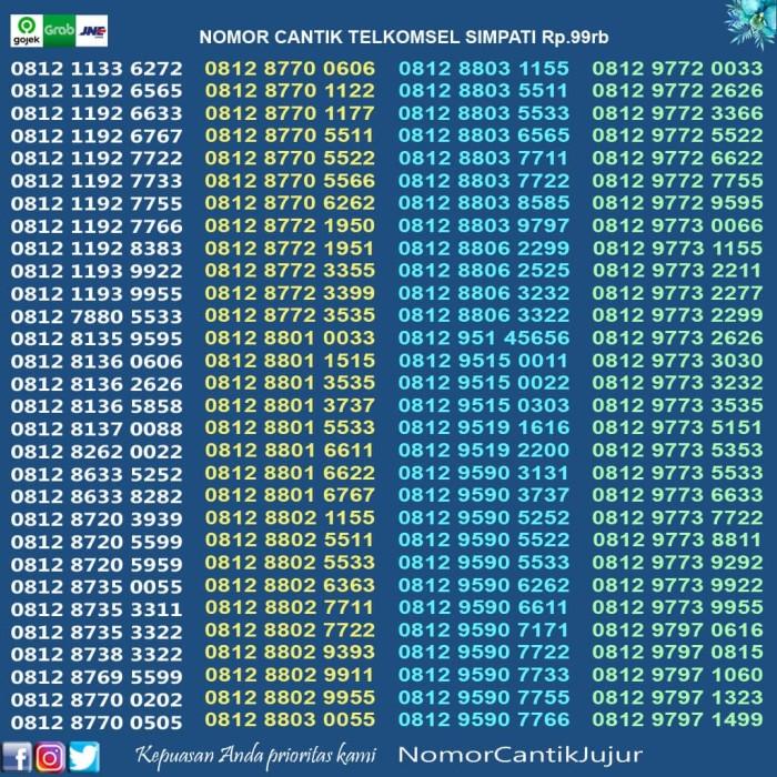Jual Nomor Cantik Telkomsel Simpati 100rb Jakarta Pusat