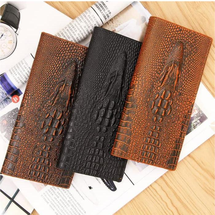 Foto Produk Dompet Panjang Pria Men Wallet Motif Crocodile Men Bense MBS L105 - Cokelat dari Masnoto O-Store