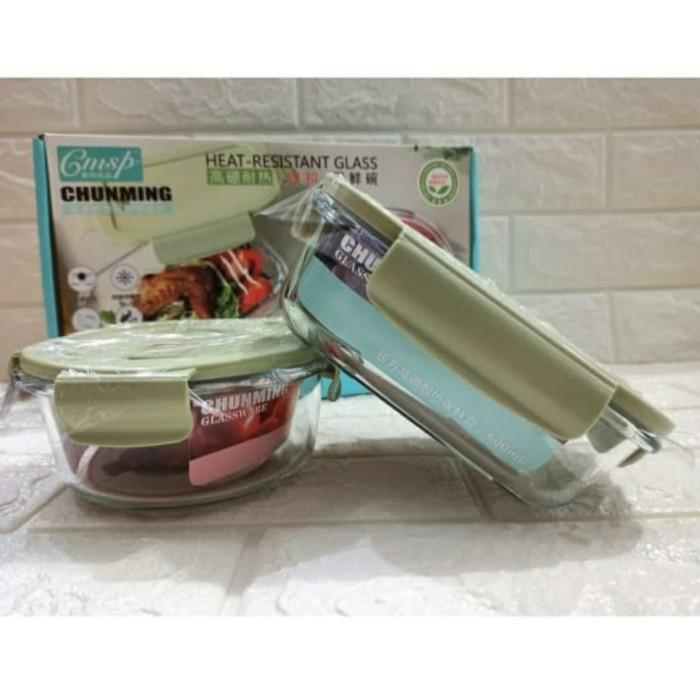 Foto Produk Glass food set/kotak makan kaca/food container tahan panas dari dedengkot wallpaper