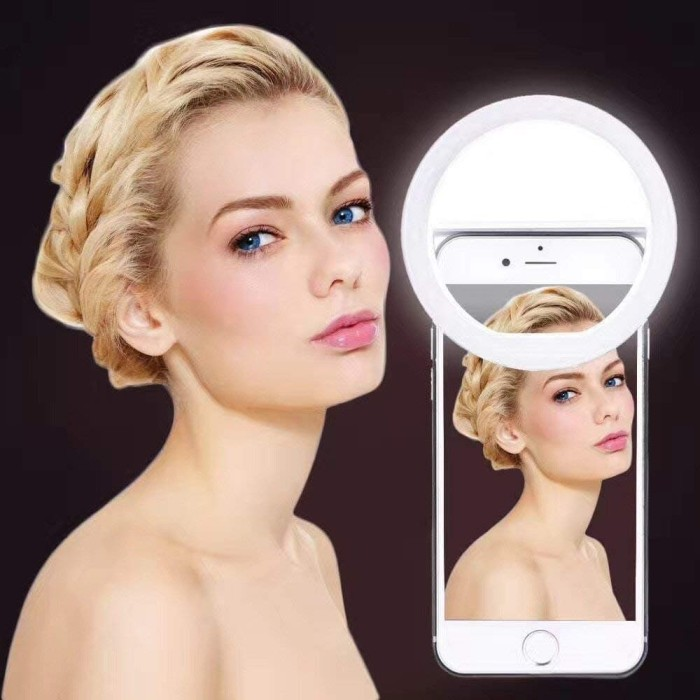 Foto Produk RING LIGHT SELFIE LED LAMPU LIGHT RECHARGEABLE AKSESORIS PHONE HP ACC dari Jurang Shop