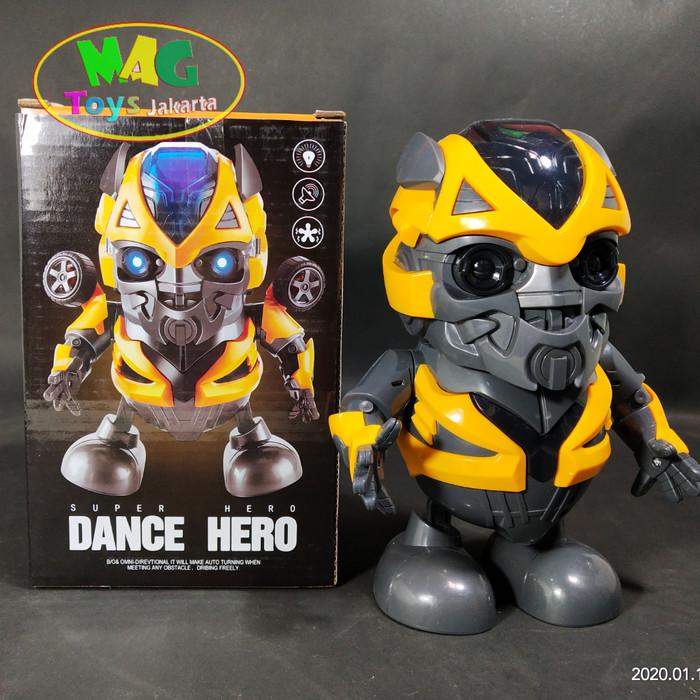 Foto Produk MAINAN ROBOT DANCE HERO TRANSFORMER BUMBLEBEE dari MAG TOYS