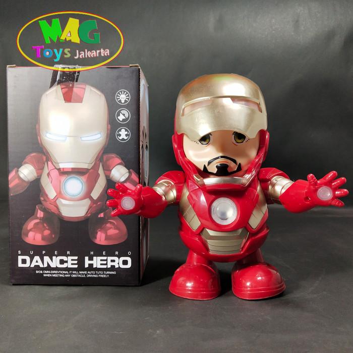 Foto Produk Mainan Robot Hero Iron Man Dance Avangers Musik Lampu dari MAG TOYS