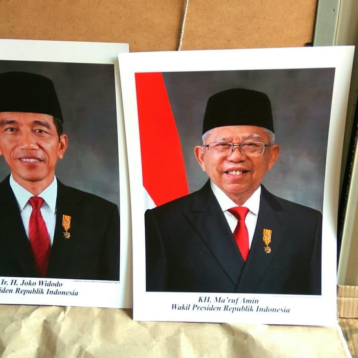 Jual Foto Presiden Dan Wakil Presiden Periode 2019 2024 Jakarta Barat Maju Barokah2 Tokopedia