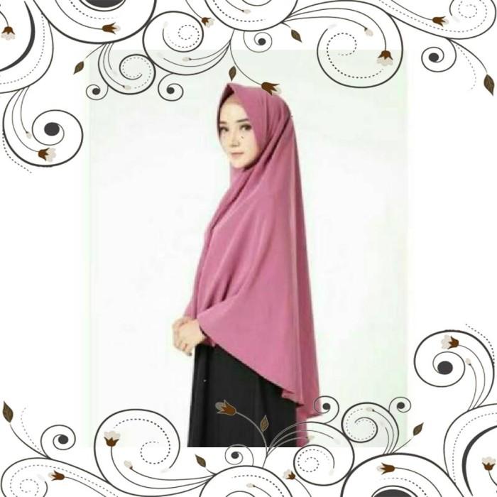 Jual Jilbab Khimar Jumbo Simple Pet Antem Syari Kerudung Cantik Adem Lembut Jakarta Pusat Hijab Ola Tokopedia