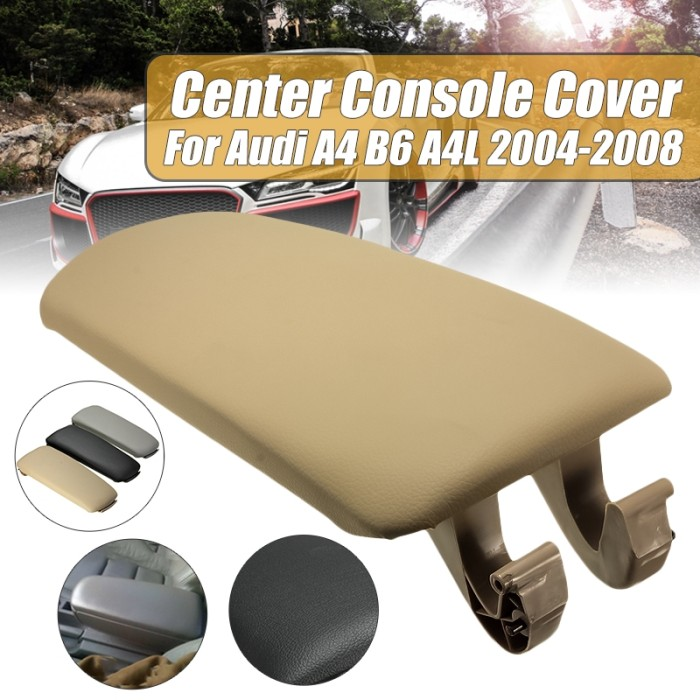 beige Armrest Lid Cover for Select Audi Vehicles For Audi A4 B6 B7 Armrest Arm Rest Center Console Storage Box Lid Cover Car