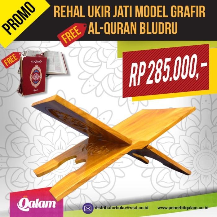 Foto Produk Rehal/Rekal Jati model grafir (free Al-Quran, warna pilih saja) dari DistributorBuku