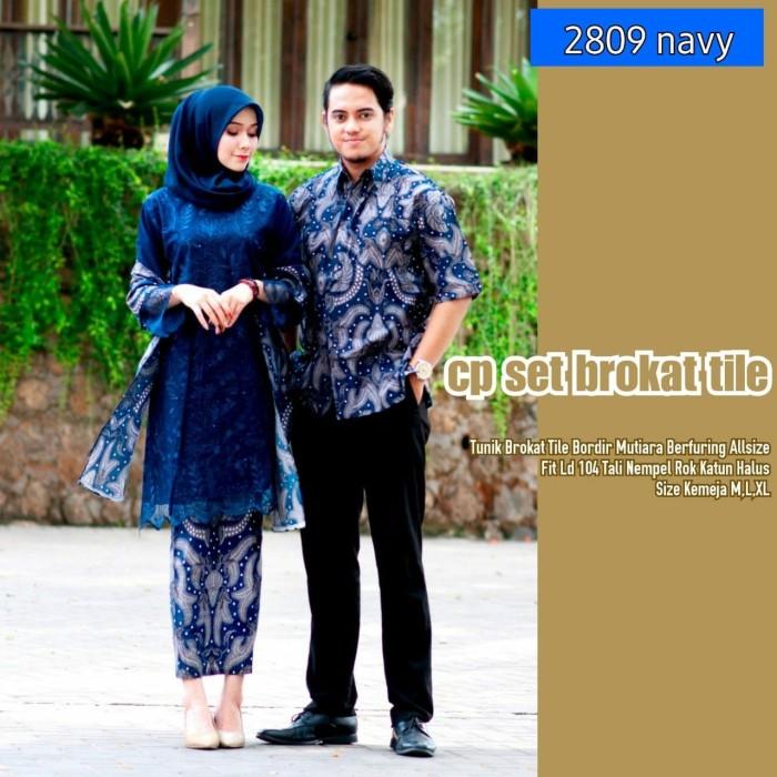 Jual Couple Batik Kebaya 2809 Batik Kopel Modern Kebaya Original Batik Kota Pekalongan Putri Batik Tokopedia