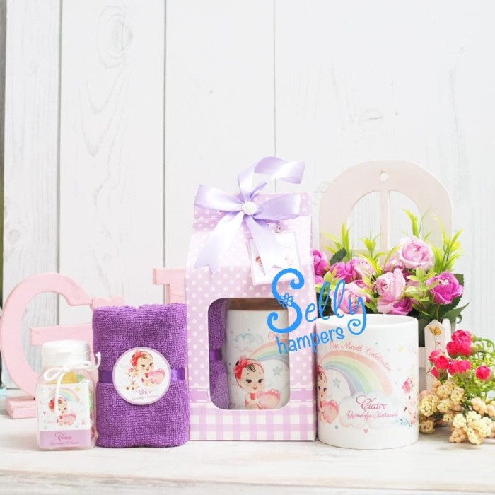Jual Baby One Month Hampers Souvenir Baby One Month Michelle Jakarta Barat Selly Hampers Tokopedia