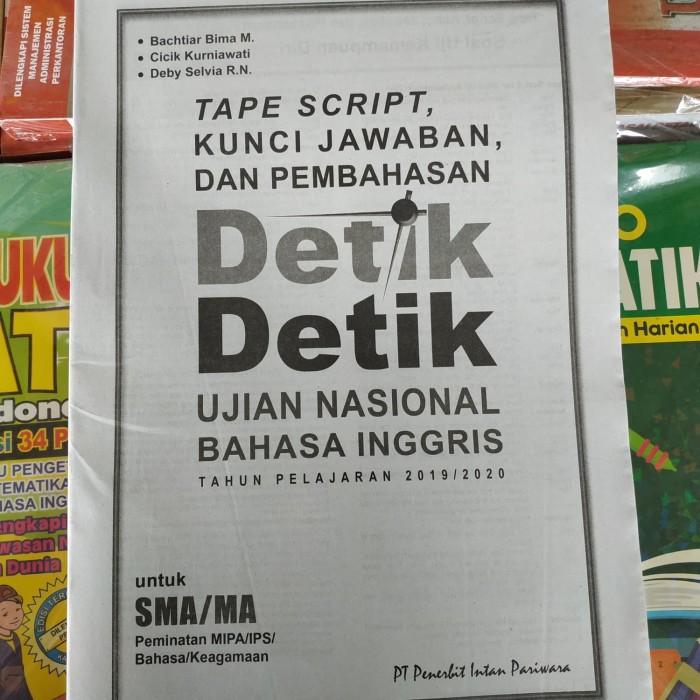 Jual Kunci Jawaban Detik Detik Un Bahasa Inggris Sma 2020 Intan Pariwara Kota Surakarta Ethes Bookstore Tokopedia