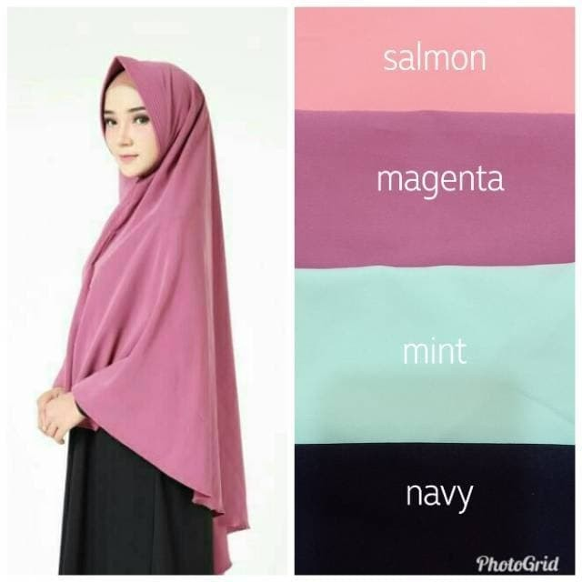 Foto Produk Jilbab Khimar Pet Anthem Jumbo Pinguin Syari TERMURAH dari Kailila Hijab
