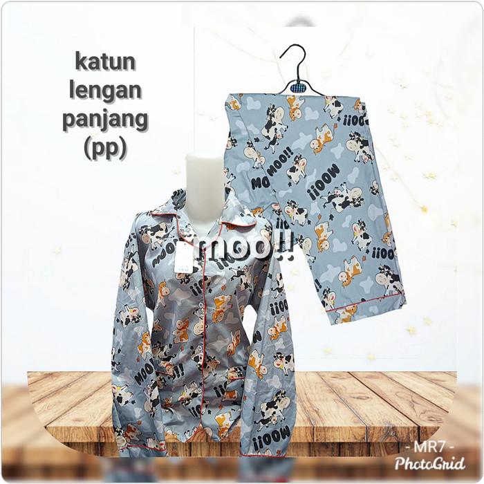 Foto Produk PIYAMA KATUN LENGAN PANJANG MOTIF KEROPPI dari MR Colection Bandung