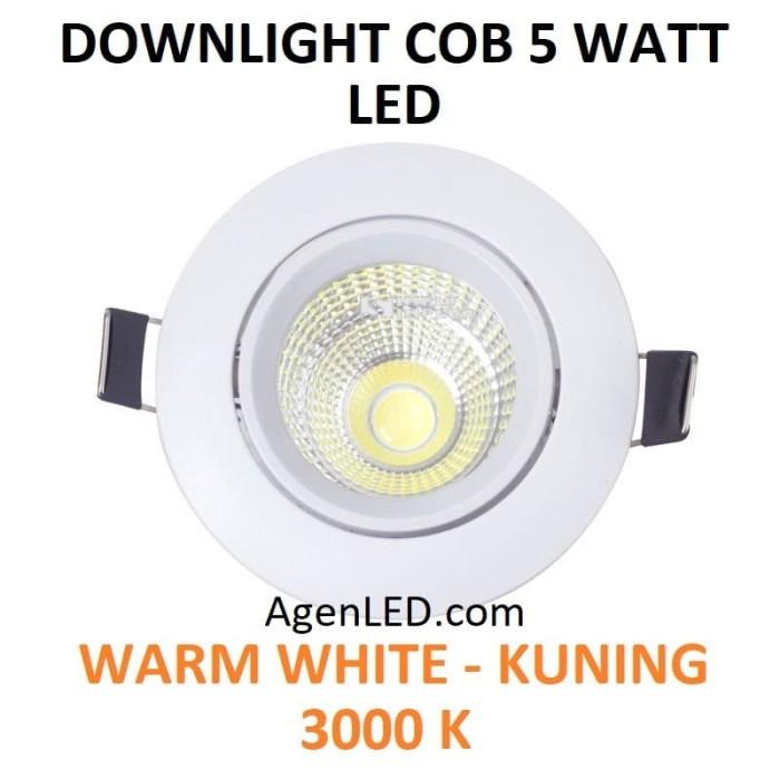 Foto Produk Lampu Downlight LED Spot sorot 5W Warm White 5 w watt KUNING COB 5watt dari AgenLED